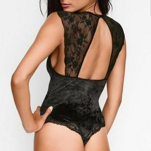Victoria's Secret Crush Velvet Lace Bodysuit 🖤